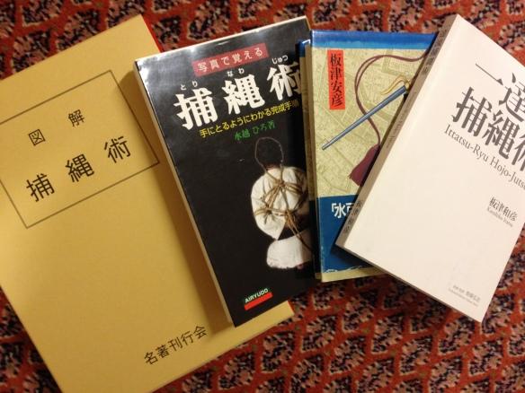 Four Japanese Hojojutsu-books